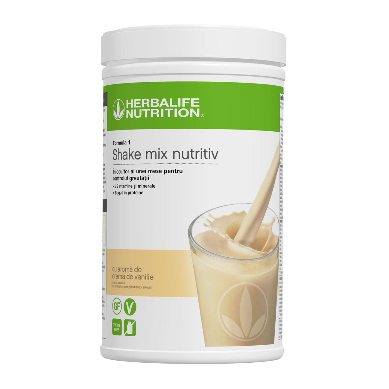 Formula 1 Shake mix nutritiv Cremă de vanilie 550g